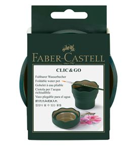 Faber-Castell - Clic&Go water cup, dark green