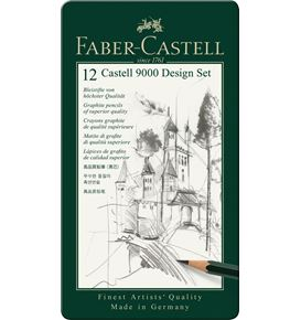 Faber-Castell - Castell 9000 graphite pencil, Design Set, tin of 12