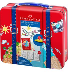 Faber-Castell - Connector felt tip pen suitcase