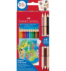 Faber-Castell - Colour Grip Children of the world pencil triangular 10+3