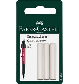 Faber-Castell - Grip Plus spare erasers for mechanical pencil, set of 3
