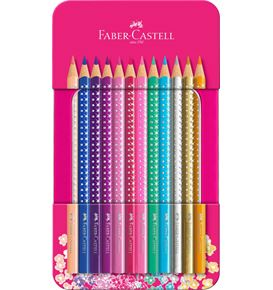 Faber-Castell - Sparkle colour pencil tin with 12 Sparkle colour pencils