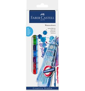 Faber-Castell - Starter set Watercolours, wallet of 12, 12x 12 ml tube
