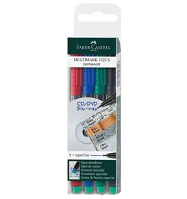 Faber-Castell - Multimark overhead marker permanent, S, wallet of 4